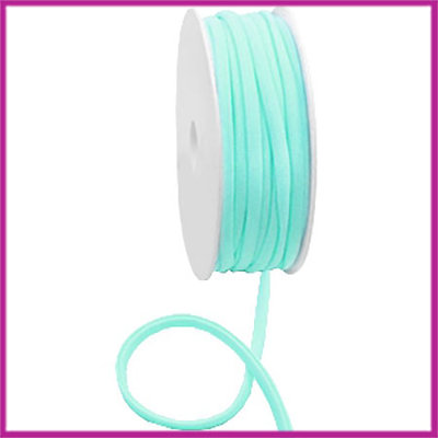 Ibiza stitched elastisch lint per 10cm Turquoise green