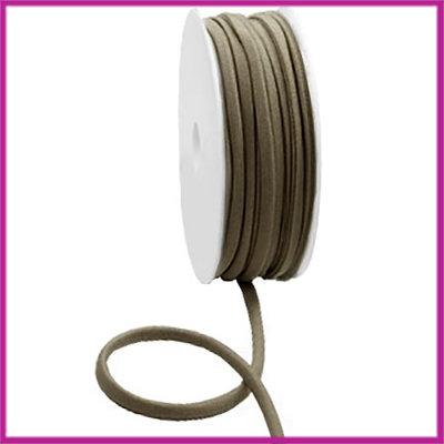 Ibiza stitched elastisch lint per 10cm Metallic dark taupe