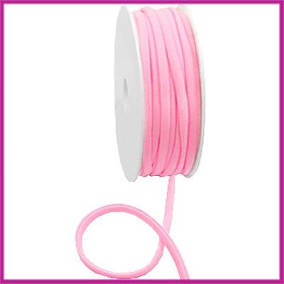 Ibiza stitched elastisch lint per 10cm Light pink