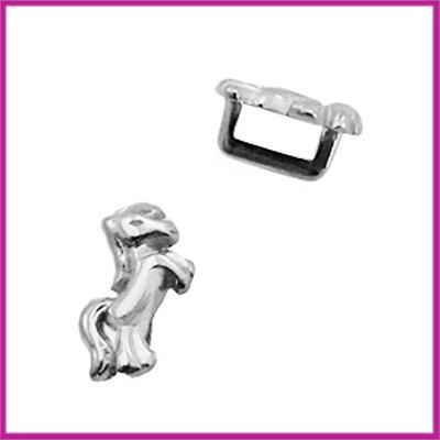 DQ metalen schuiver unicorn antiek zilver