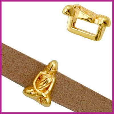 DQ metalen schuiver Buddha goud