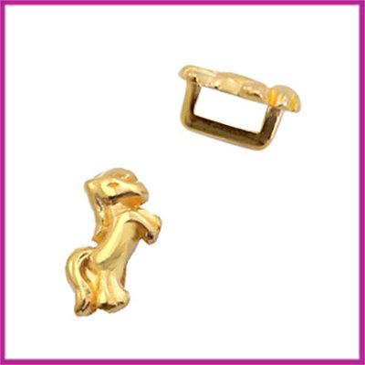 DQ metalen schuiver unicorn goud