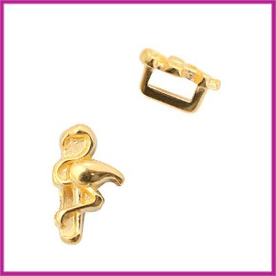 DQ metalen schuiver flamingo goud