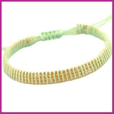 Hip zomers armbandje plat lime groen