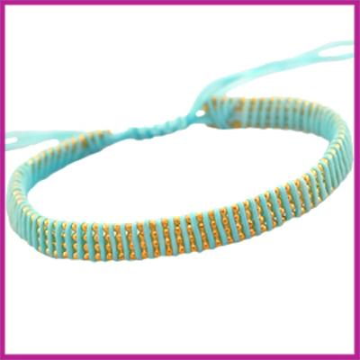 Hip zomers armbandje plat licht blauw