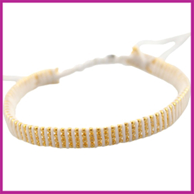 Hip zomers armbandje plat wit