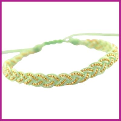 Hip zomers armbandje gevlochten lime groen