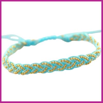 Hip zomers armbandje gevlochten licht blauw