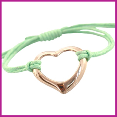 Hip zomers armbandje groot hart lime groen