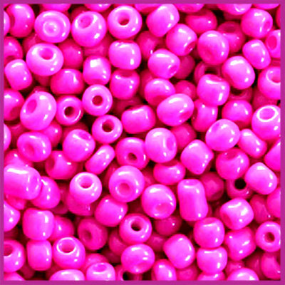 Rocailles 6/0 (4mm) Neon pink