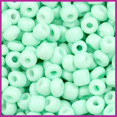 Rocailles 6/0 (4mm) Light turquoise green