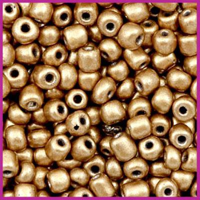 Rocailles 6/0 (4mm) Metallic light copper gold