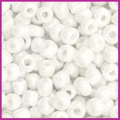 Rocailles 6/0 (4mm) Sparkling white