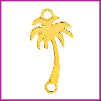 Bohemian metaal tussenstuk palmboom small goud