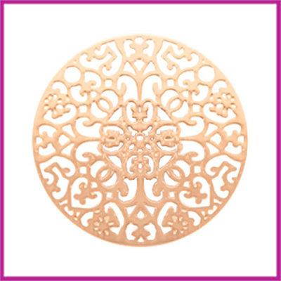 Bohemian metaal tussenstuk rond 23mm rosegold