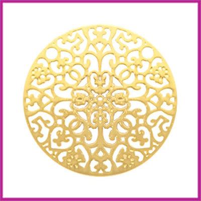 Bohemian metaal tussenstuk rond 23mm goud