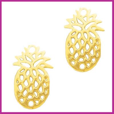 Bohemian metaal bedel / tussenstuk ananas goud