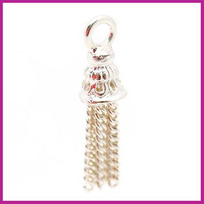 Sterling zilver 925 bedel tassel 19mm glanzend