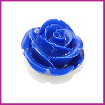 Natuursteen kraal roos 20x14mm Donker blauw