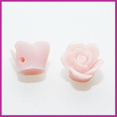Kunststof kraal roos 12mm Licht vintage rose