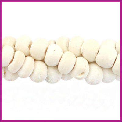 Kokos kralen disc 4mm Off white (natuurlijke kleur van kokos)