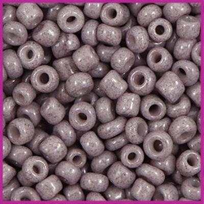 Rocailles 6/0 (4mm) Mauve grijs