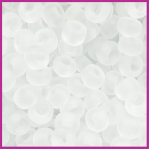 Toho rocailles 6/0 Transparant crystal frosted