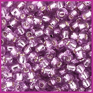 Toho rocailles 6/0 Silver lined light grape