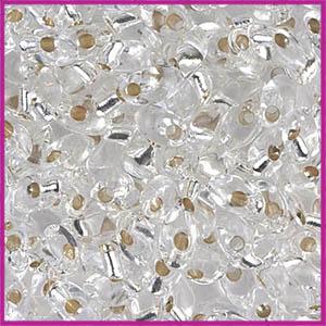 Miyuki rocailles 6/0 Silver lined crystal
