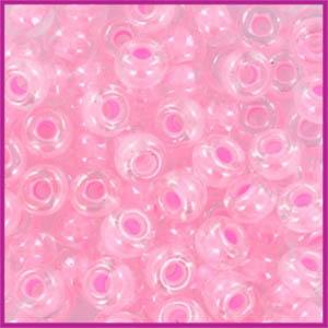 Miyuki rocailles 6/0 Pink lined crystal