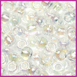 Miyuki rocailles 6/0 Transparant AB crystal