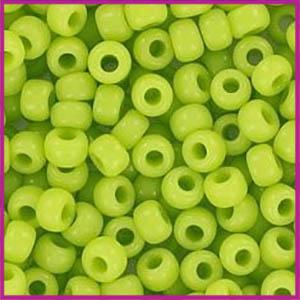 Miyuki rocailles 6/0 Opaque chartreuse