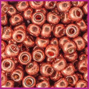 Miyuki rocailles 6/0 Duracoat galvanized pink blush