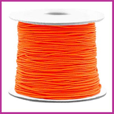 Gekleurd elastisch draad Ø0,8mm per meter Fluor oranje