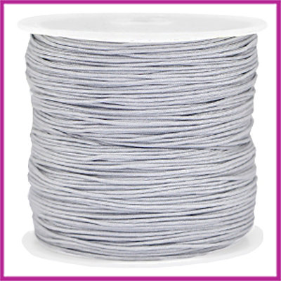 Macramé satijndraad draad Ø0,8mm Light silver grey per meter