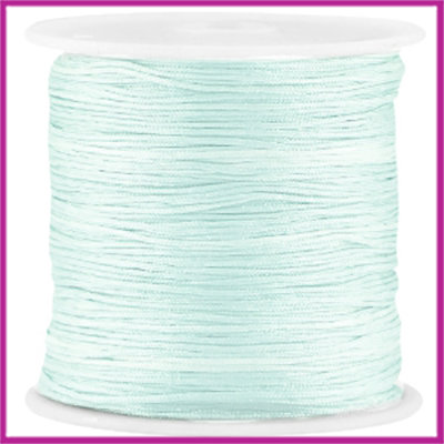 Macramé satijndraad draad Ø0,8mm Light turquoise green per meter