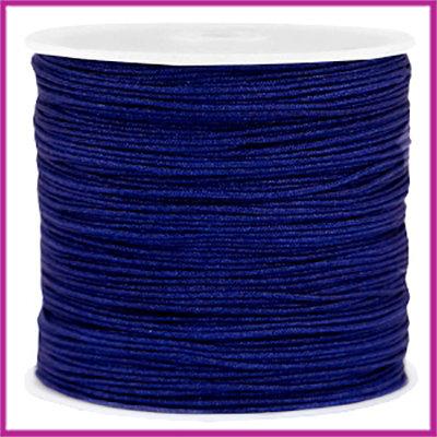 Macramé satijndraad draad Ø0,8mm Navy blue per meter