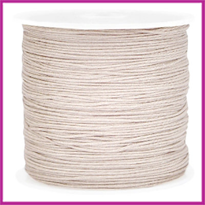 Macramé satijndraad draad Ø0,8mm Light geringe brown per meter