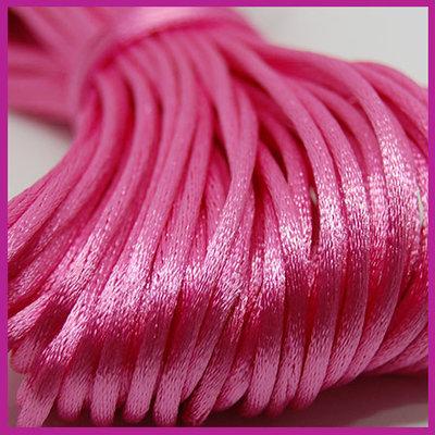Satijnkoord Ø2 mm Pink