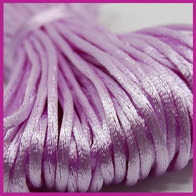 Satijnkoord Ø2 mm Lilac