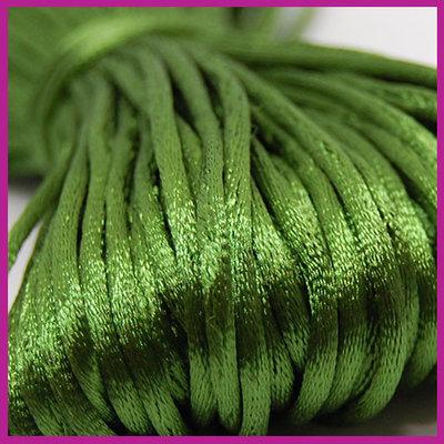 Satijnkoord Ø2 mm Olive green