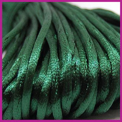 Satijnkoord Ø2 mm Dark pine green