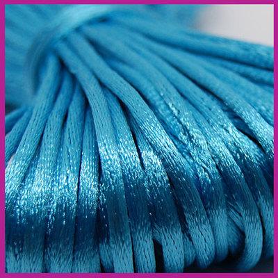 Satijnkoord Ø2 mm Aquamarine blue