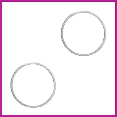 DQ metaal tussenstuk cirkel 14mm Antiek zilver