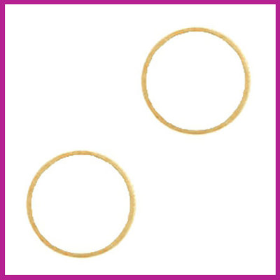 DQ metaal tussenstuk cirkel 14mm Goud