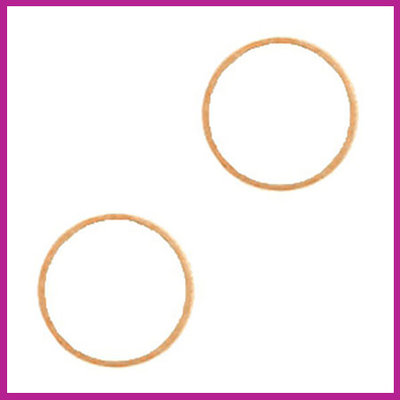 DQ metaal tussenstuk cirkel 14mm Rosegold