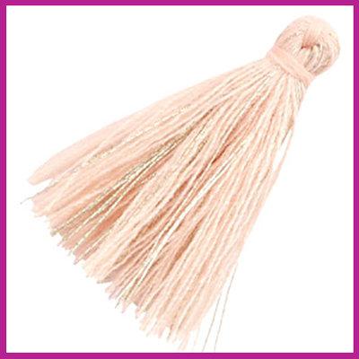 Kwastje basic goldline 3cm Vintage pink