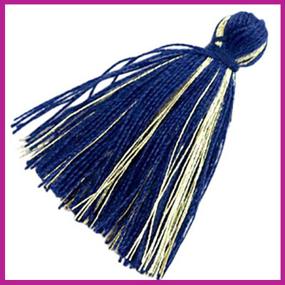 Kwastje basic goldline 3cm Dark blue