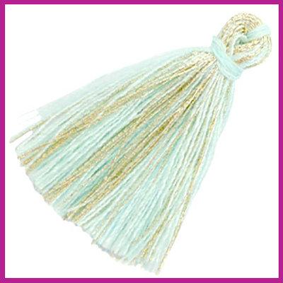 Kwastje basic goldline 3cm Light turquoise