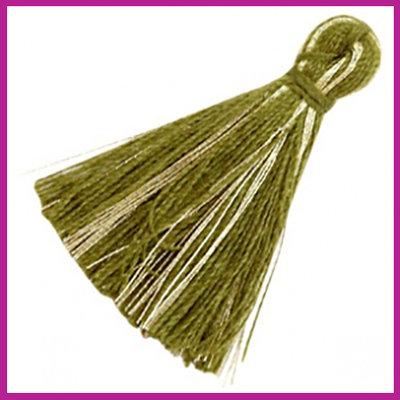 Kwastje basic goldline 3cm Olive green